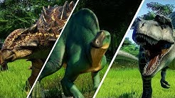ALL THREE NEW DINOSAURS SHOWCASE FOR CLAIRE'S SANCTUARY IN JURASSIC WORLD: EVOLUTION!