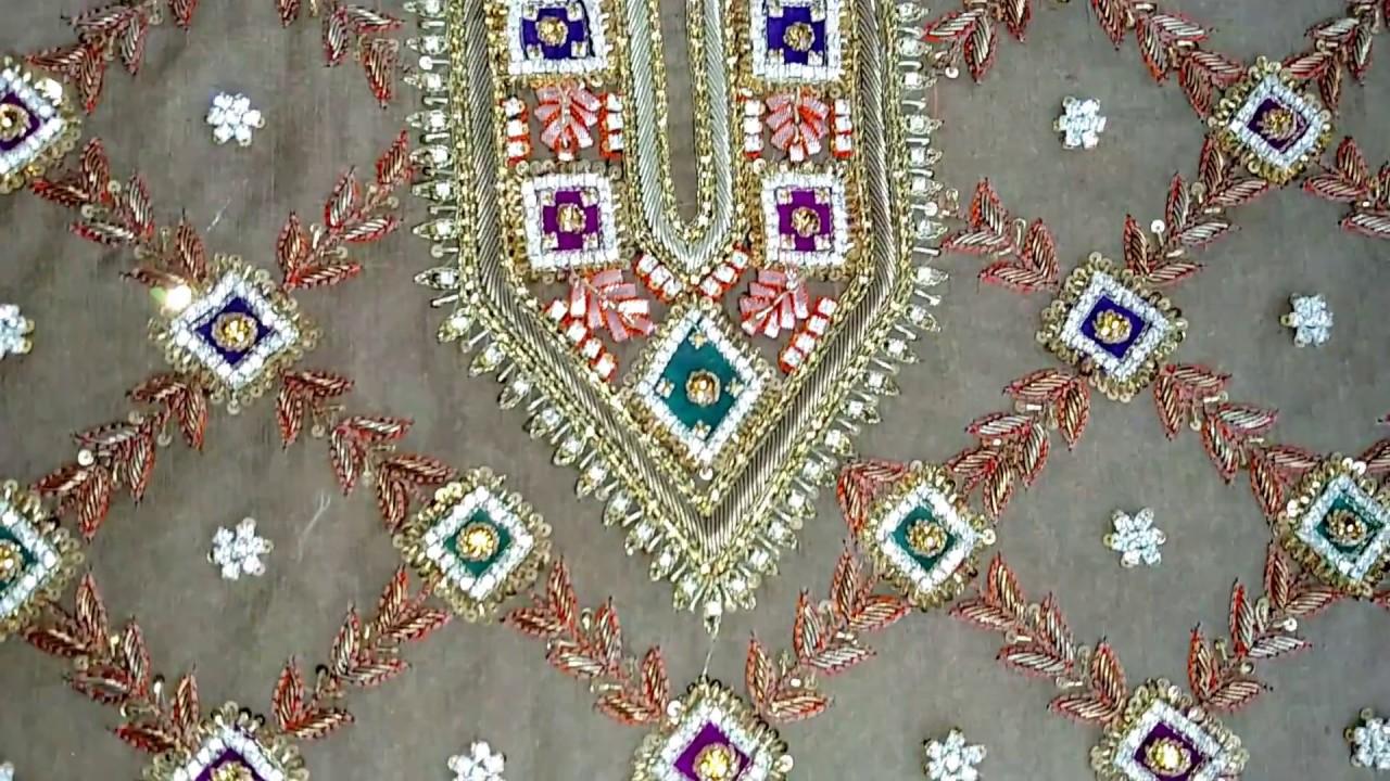 Latest Mehndi Dress Design Beautiful Gotawork And Dabka Embroidery