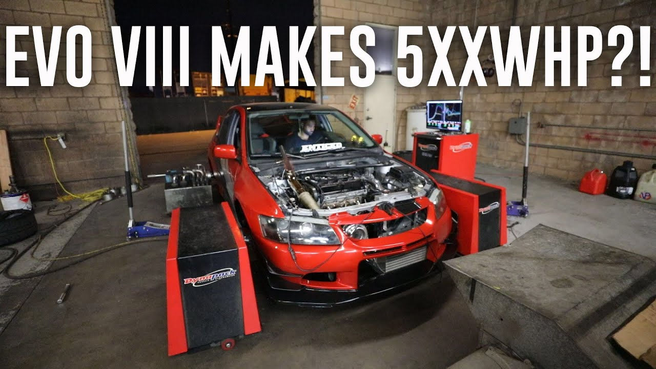 Evo 8 Makes Insane Power On The Dyno 570 Whp