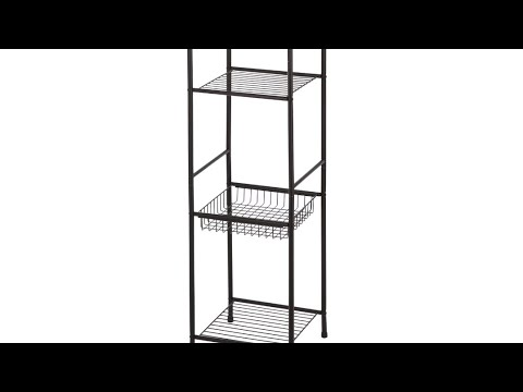 """Mainstays 5 Shelf Tower with Liner kitchen living room 13/"""" x 13/"""" x 61.5/"""""""