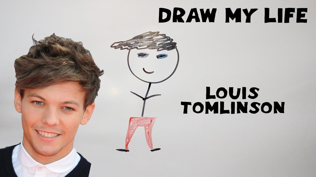 Louis Tomlinson Drawing Cartoon Draw My Life - Louis T...