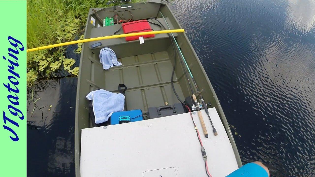 Alumacraft 1436lt on the water! Aluminum Jon Boat to Bass Boat