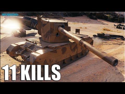 11 фрагов на БАБАХЕ ✅ FV4005 Stage II World of Tanks