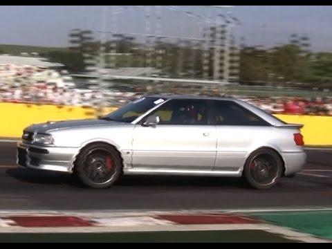 Audi s2 v8 biturbo vs honda civic vti turbo youtube for V8 honda civic