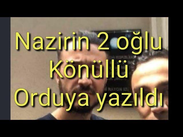 Azərbaycanlı nazirin oğulları orduya yazıldı - FOTO - Mir TV