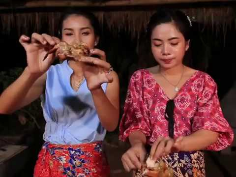 Masak Tiga Ekor Ayam Montok Di Panggang Dengan Sambal Terong Unik Ala Gadis Desa Manja, Lezat Banget