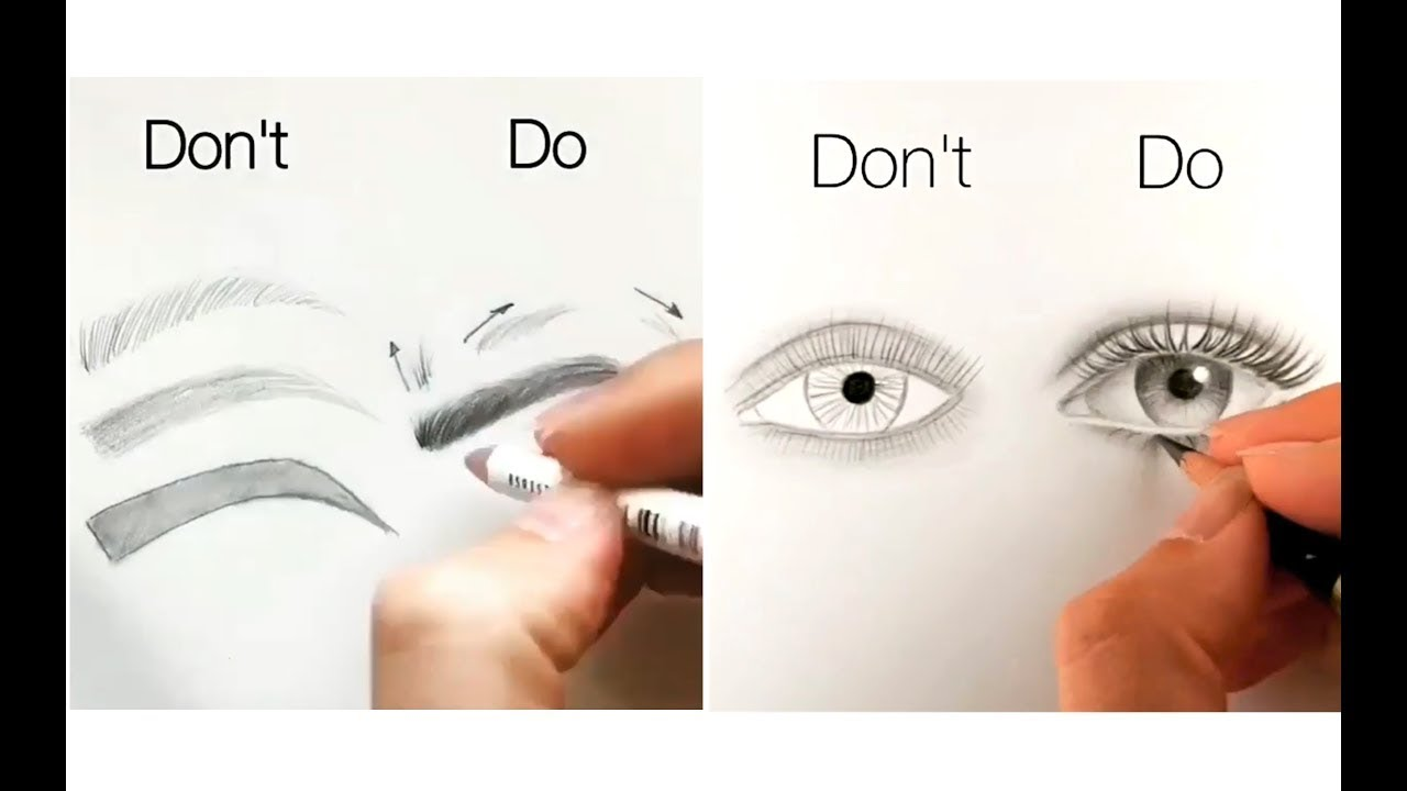 10 Easy Tips For Drawing Face Eyes Nose And Lips Youtube