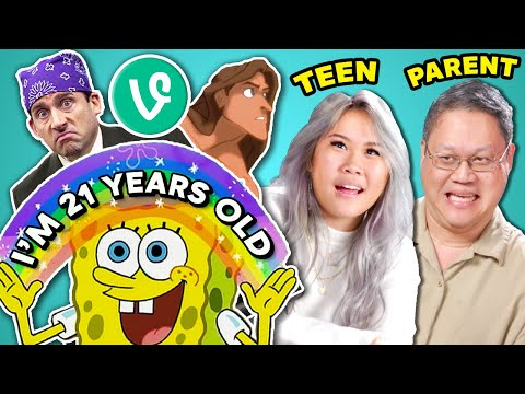 TRY NOT TO FEEL OLD CHALLENGE  Parents & Teens React