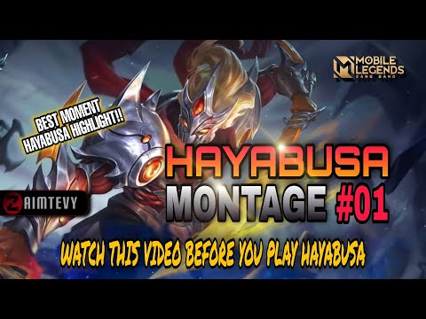 HAYABUSA MONTAGE #01. Hayabusa BEST MANIAC AND SAVAGE MOMENT HIGHLIGHT - Mobile Legends