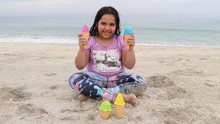 Fingers Family Kid Song Colorful ice cream Cute shfa  Kinderlieder und lernen Farben Baby spielen