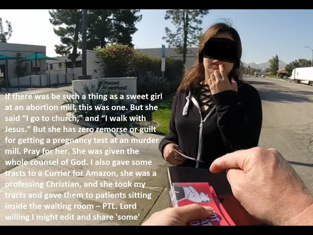 Using a Courier to deliver Gospel tracts into an Abortion Mill