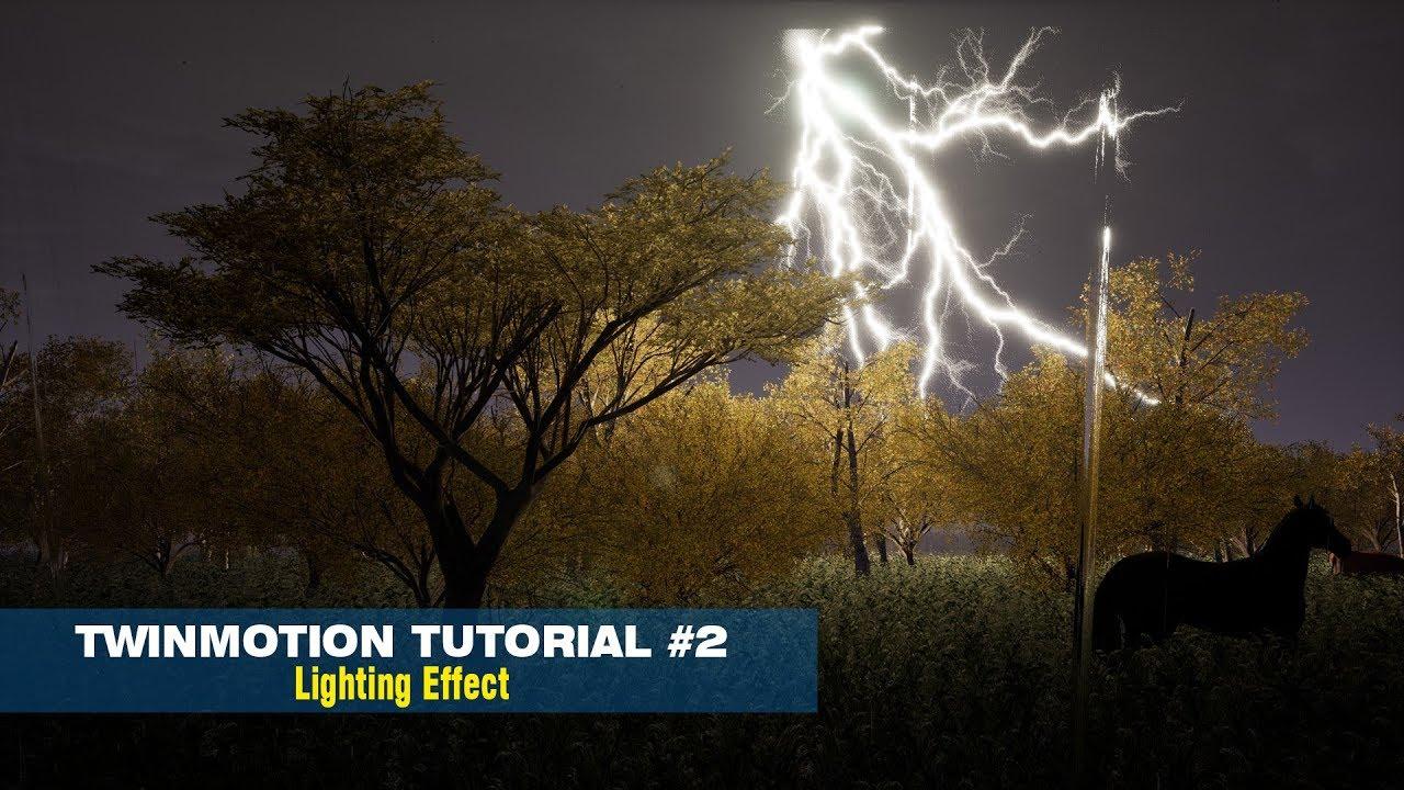 Twinmotion 2018 - Tutorial 2 / Animation Lighting effect