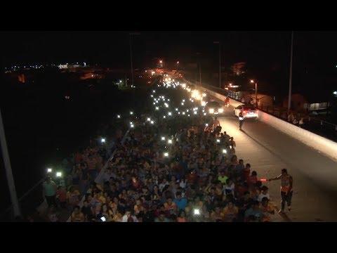 Sem o portal, Marcha pra Jesus é realizada na Avenida Coronel Mâncio Lima