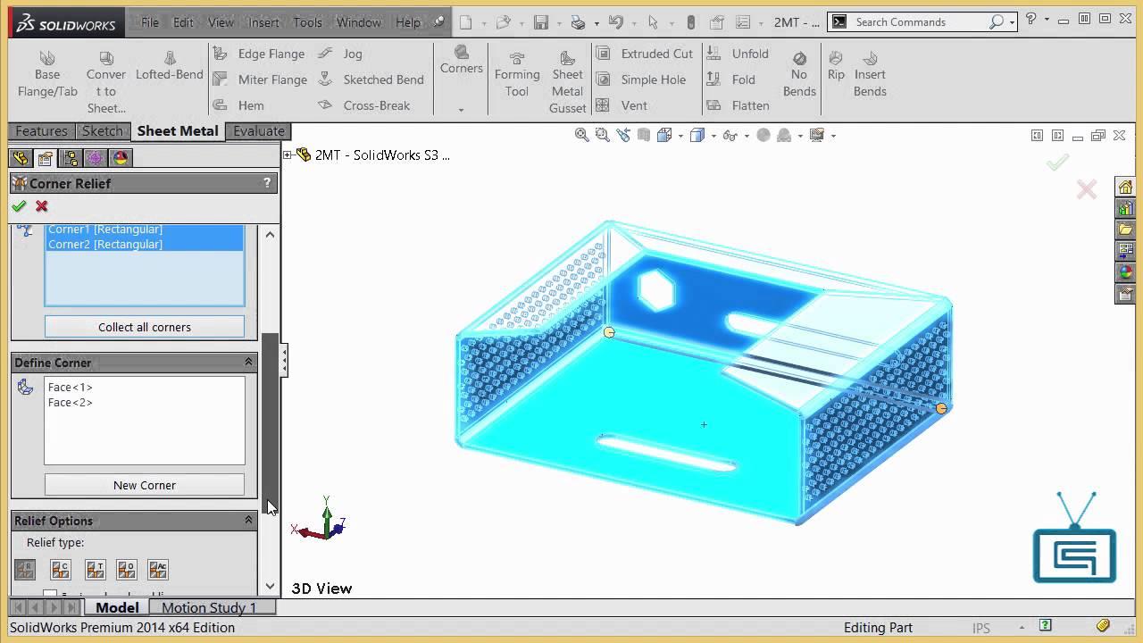 Corner Reliefs Propagate To Flattened Model Cimquest 2