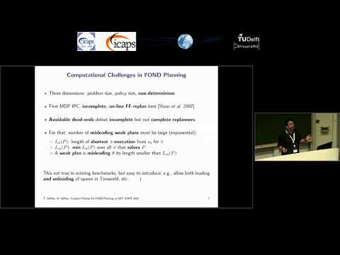 "ICAPS 2018: Hector Geffner on ""Compact Policies for Fully Observable Non-Deterministic ..."""