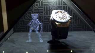 Synchronized Holographic Display : The Robot For Hublot, Mega-star At Baselworld 2013