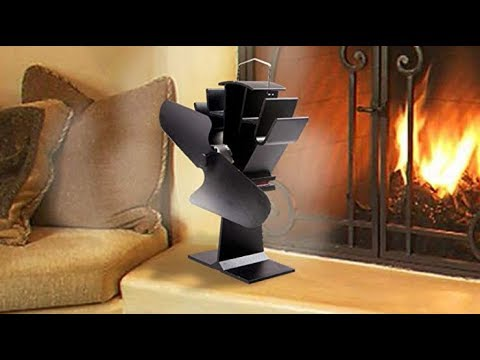 HEAT POWERED WOOD STOVE FAN BLACK Eco Friendly Review
