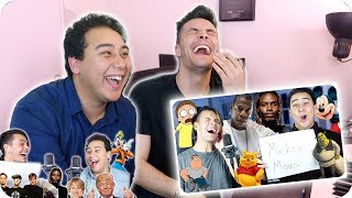 Download Reacting to Our Impersonation Covers Mp3 and Videos