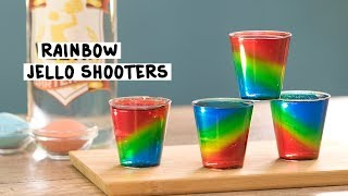 Rainbow Jello Shots in a Cup - Tipsy Bartender