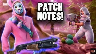 *NEW* RARE PUMP, BUNNY SKIN, SNIPER SHOUTOUT V2, MISSILE LAUNCHER ( Fortnite V3.4 PATCH NOTES )