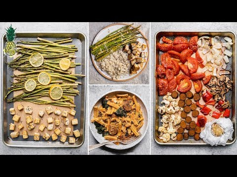 Easy Vegan Sheet Pan Dinner Recipes (Gluten and Oil-Free)