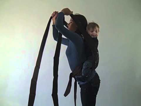 8b7b1cc459a FreeHand Mei Tai Back Carry Instructions - YouTube