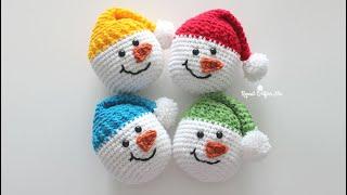 How to Crochet a Snowman Head