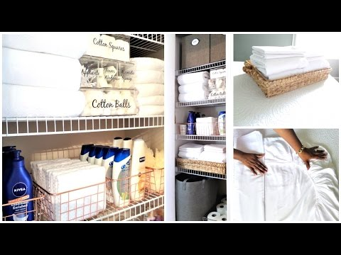 NEW! How To Organize A Small Linen Closet | Organization Tips & Tour