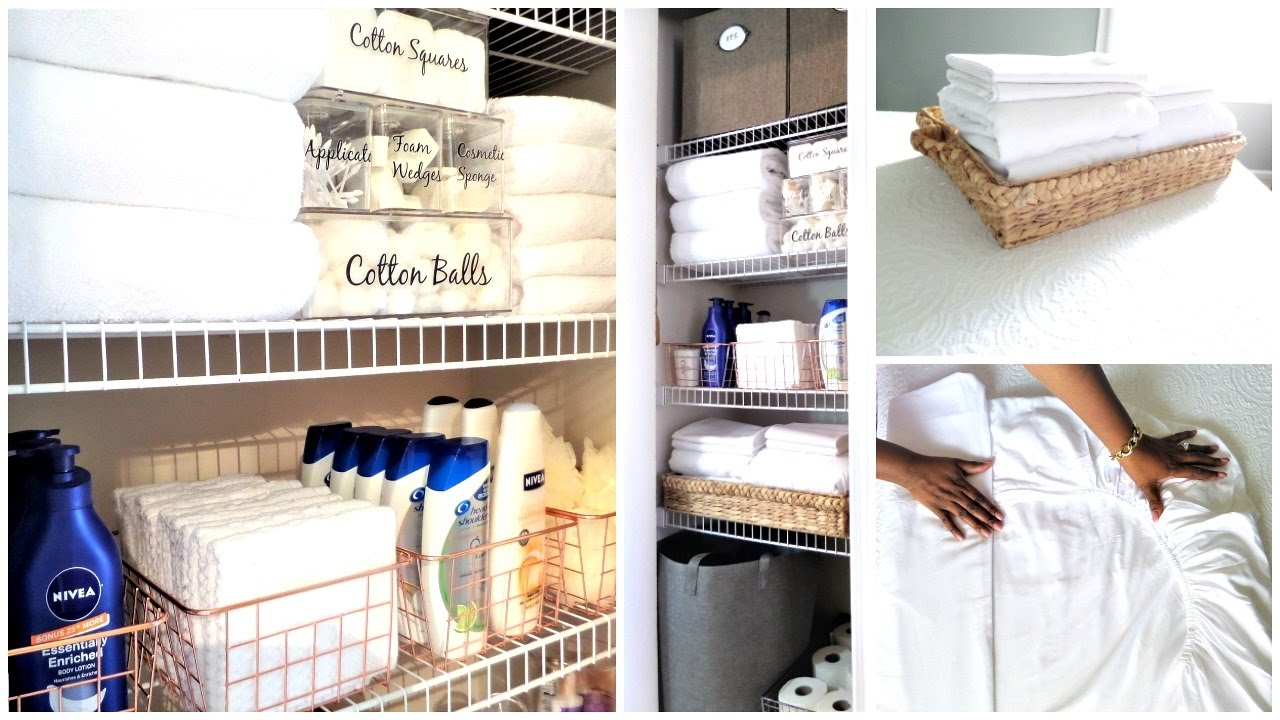 Delightful How To Organize A Small Linen Closet | Organization Tips U0026 Tour