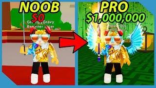 Noob à Pro! Plus de 1 000 000 de pièces! Maître samouraï ! - Simulateur Roblox Samurai