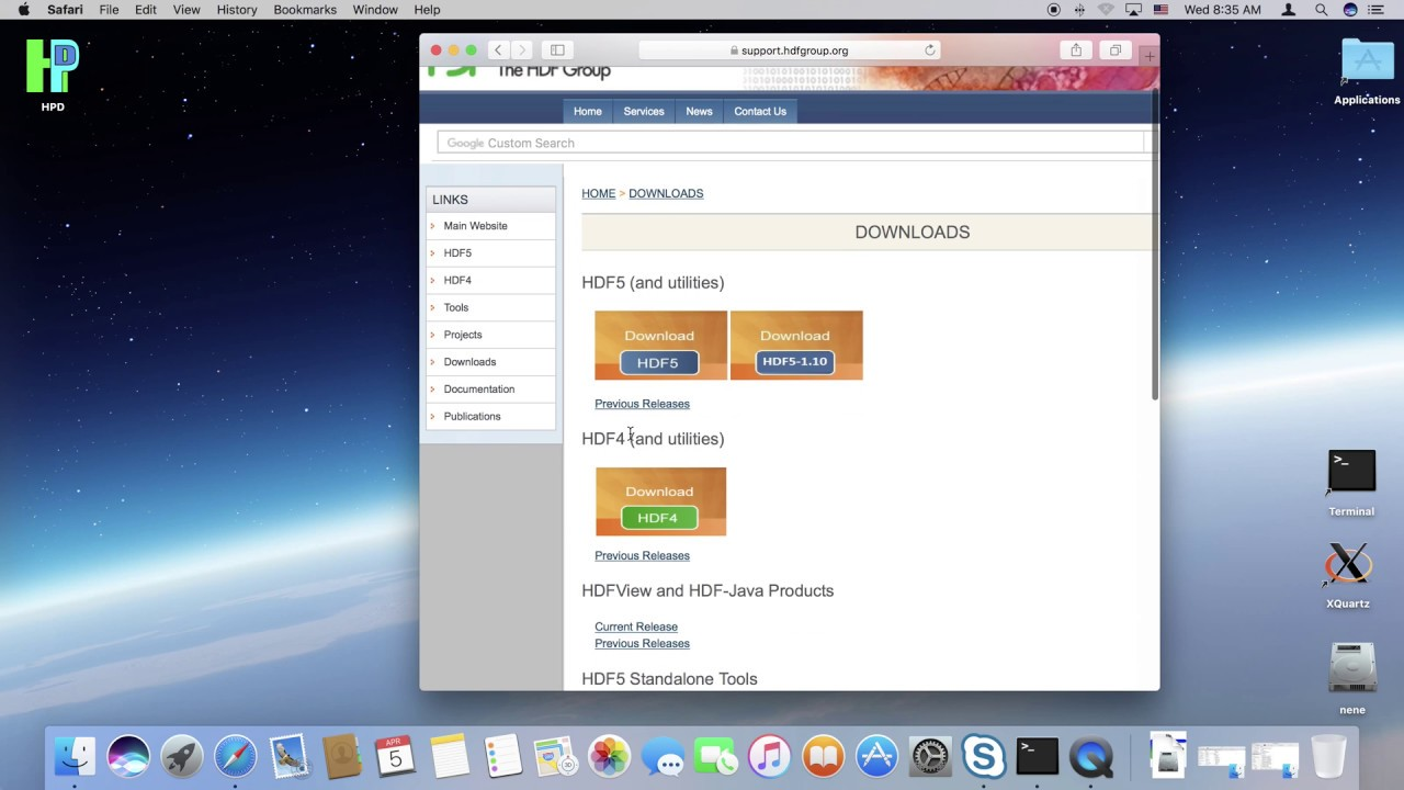 How to install HDFView on Mac OS X