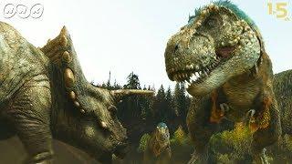 「NHK恐竜超世界2019」https://www.nhk.or.jp/special/dino/ ティラノサウルスの群れがトリケラトプスを追いつめる! 最新研究で分かった狩りの戦略をCGで再...