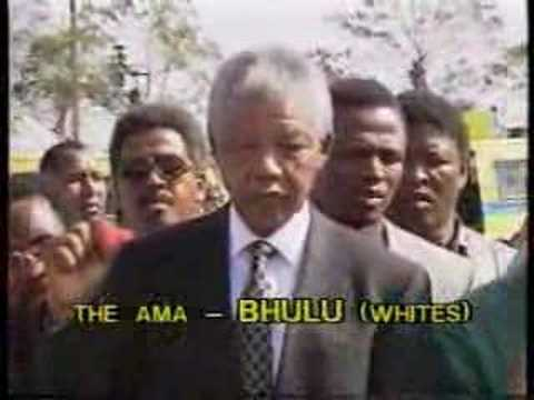 Mandela: Speaking to reporters after singing to kill whites