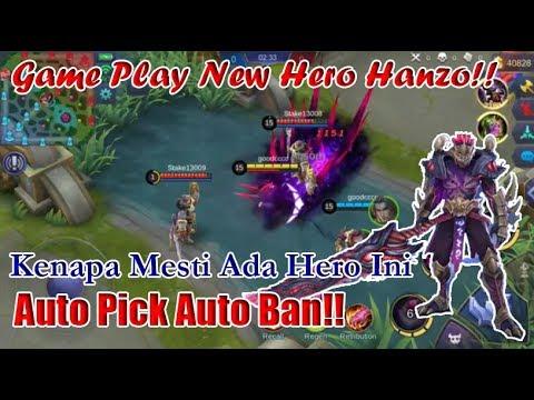 Hero Baru!! GamePlay Skill Hanzo - Assasin Terkuat di Bumi!! || Mobile Legends
