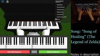 "ROBLOX Virtual Piano   ""Song of Healing"" ~ The Legend of Zelda: Majora's Mask"