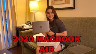 "2020 13"" SILVER MACBOOK AIR UNBOXING|vlog #13"