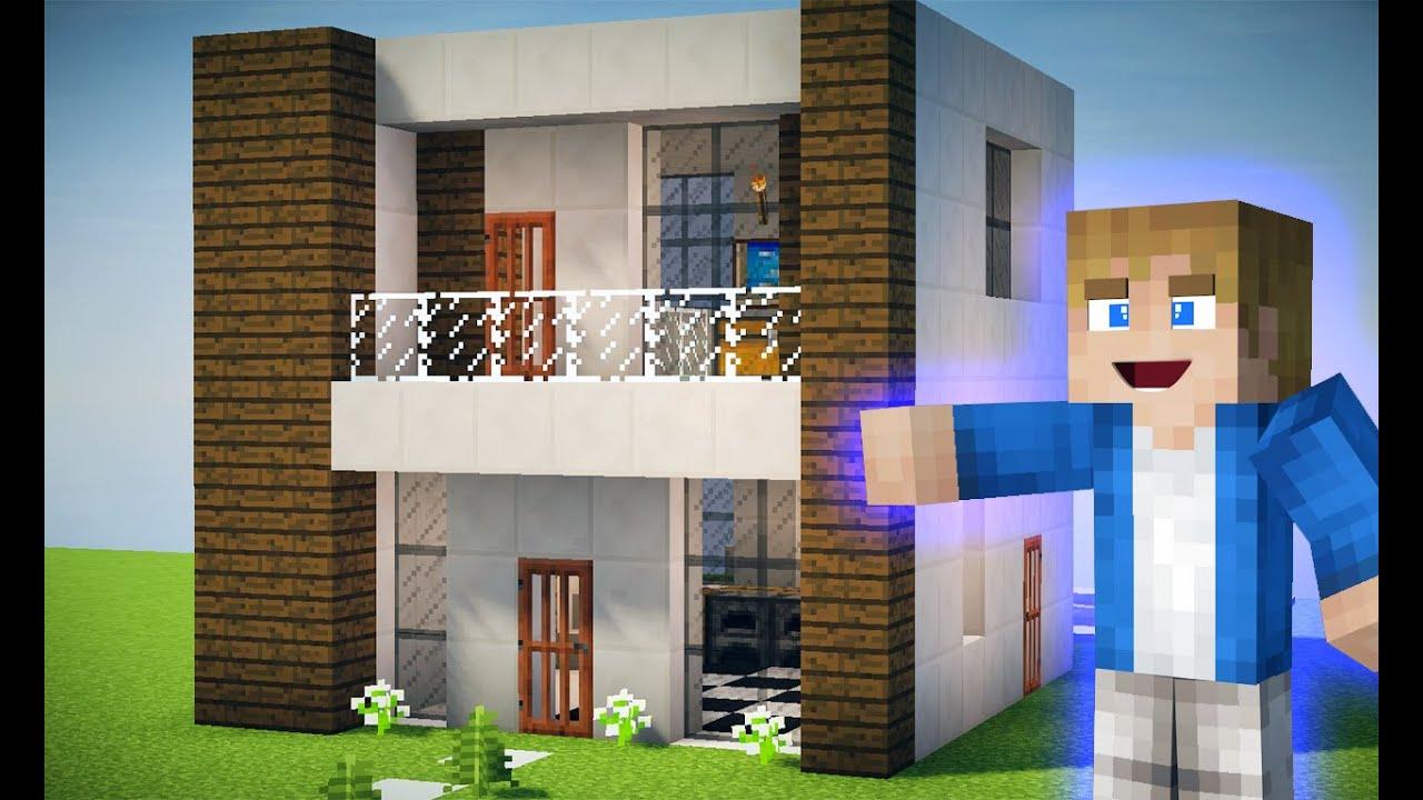 Minecraft tutorial como fazer uma pequena casa moderna for Casas pequenas modernas