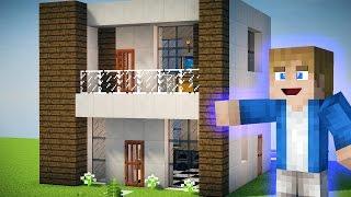 Minecraft Tutorial - Como fazer uma Pequena Casa Moderna