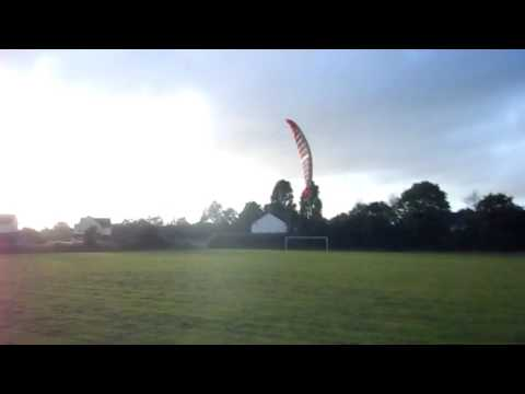 Powerkite Flexifoil Bullet 4.5m Demo and Steves First Rainbo