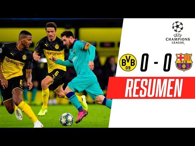 Borussia Dortmund - FC Barcelona [0-0]   RESUMEN   Grupo F   UEFA Champions League