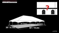 30' x 50' Tent Standard Sidewall Options