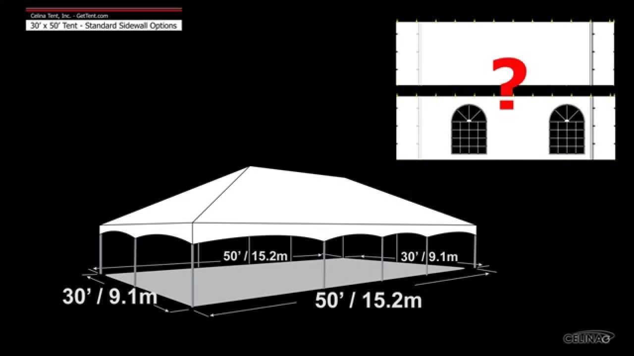 30u0027 x 50u0027 Tent Standard Sidewall Options  sc 1 st  YouTube & 30u0027 x 50u0027 Tent Standard Sidewall Options - YouTube
