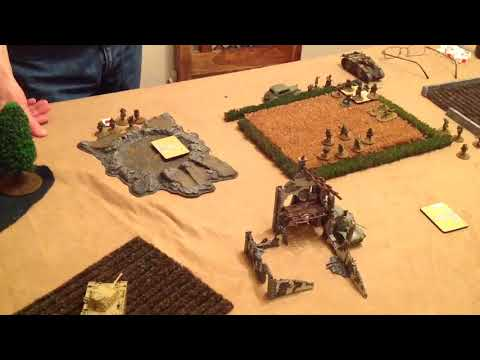 Early War Bolt Action Battle Report, Africa Korp v French Army 1000pts Op Sealion practice.