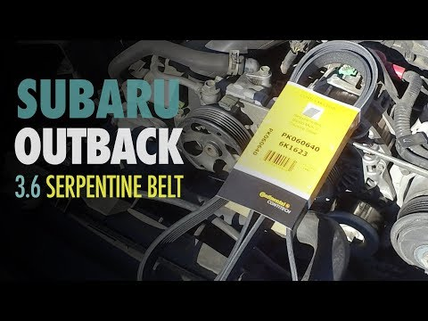 How to Replace Serpentine Belt | Subaru Outback 3.6 | Subaru Legacy 3.6