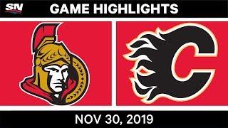 NHL Highlights   Senators vs. Flames – Nov. 30, 2019