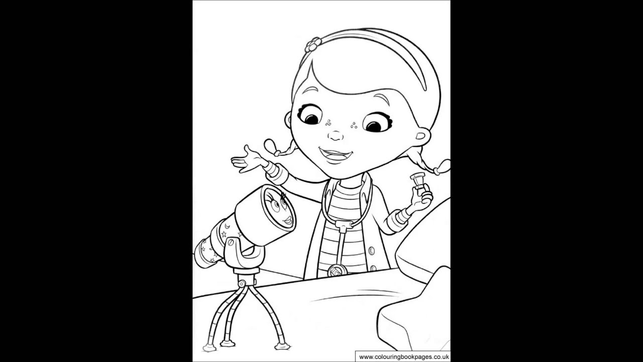 doc mcstuffins colouring pages and kids colouring game youtube
