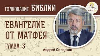 Евангелие от Матфея. Глава 3. Андрей Солодков. Новый Завет
