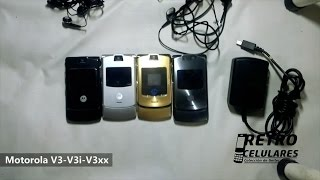 MOTOROLAS V3, V3i y V3xx -Colección Celulares, antiguos, viejos old cell phones RETRO CELULARES