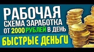 Как заработать в интернете от 30 000 тысяч рублей без вложений!