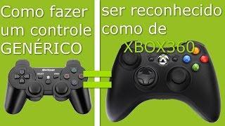 Fazer controle genérico ser reconhecido como de Xbox 360